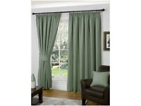 Extra wide and long pencil pleat curtain pair