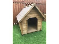 Large outside dog kennel