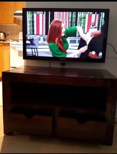 SOLID WOOD TV STAND &150