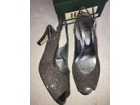 Womens HB Italian Shoes Ladies Party Glitter Sandals for Christmas, Russell Bromley style