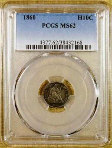 1860 PCGS MS62 Seated Half Dime