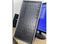 HP 590-P0057NA AMD Ryzen 5 8GB RAM 1TB HDD 128GB SSD Radeon Vega 11 Desktop PC