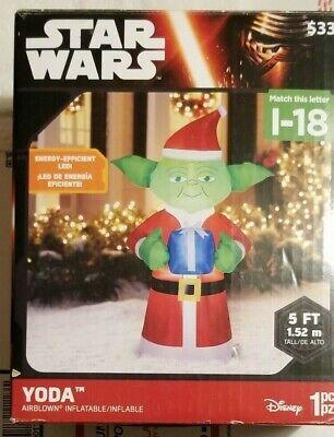 Gemmy Disney Star Wars Inflatable Yoda 5 ft NEW UNUSED Christmas Decoration