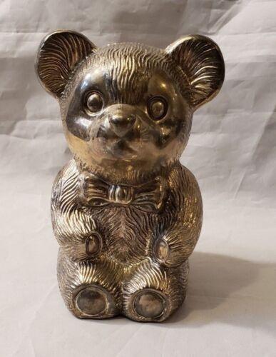 Vintage Metal Teddy Bear Bank