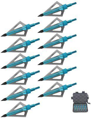 12PK 3 Fixed Blade Hunting Broadheads 100 Grain Arrow Head US