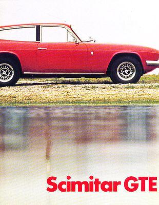 1973 Reliant Scimitar GTE 12-page Original Car Sales Brochure Catalog - English