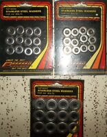 """3 PACKS OF STAINLESS STEEL WASHERS FOR 1/4"""" & 3/8"""" BOLTS $5.00 e"""