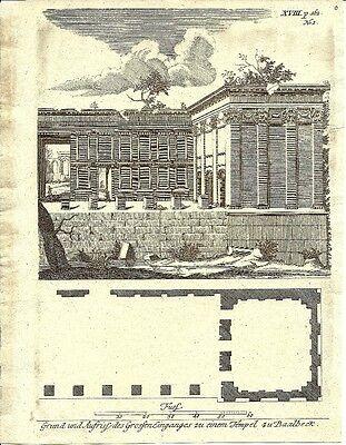 Antique engraving, Temples zu Baalbeck P XVIII