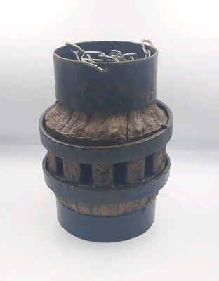 1900s Refurbished Cart Wheel Center Hub Hanging Planter Garden Ornament