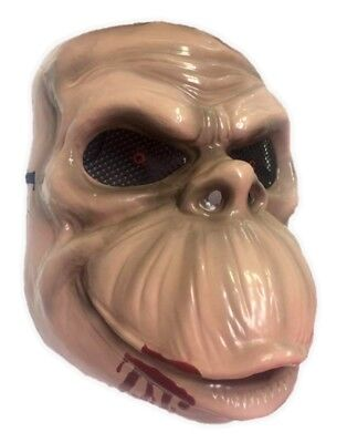 Chimpanzee Mask (Chimp Plastic Fancy Half Mask Killer Ape Chimpanzee Halloween Costume)