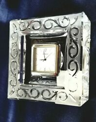 MARQUIS WATERFORD ARABESQUE CRYSTAL CLOCK