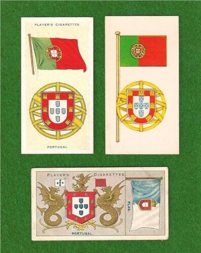 Bandeira de PORTUGAL National Flag 1905 1938 1967 cards Bandeira Verde-Rubra
