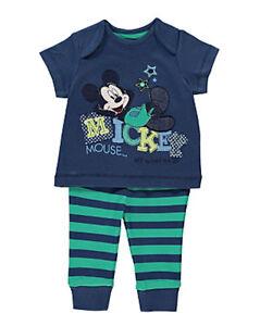 disney mickey mouse maus baby jungen set strampler kombi gr 50 56 neu ebay. Black Bedroom Furniture Sets. Home Design Ideas