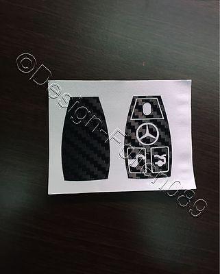 Carbon Schwarz Folie Dekor Schlüssel Mercedes C E  AMG Brabus W204 CLK W209  W R