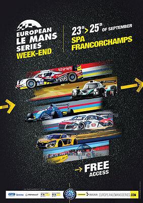 Programm European Le Mans Series Spa-Francorchamps 2016 ELMS