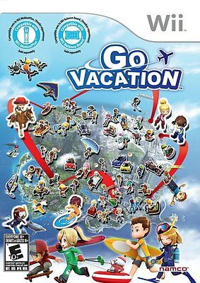 Go Vacation  Nintendo Wii  Ntsc  Family Friendly Action Party Game  New