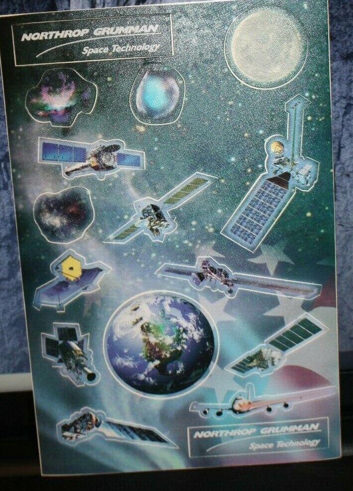 Rare New Northrop Grumman Space Technology 15 Stickers Sheet Satellite Planets  - $5.99