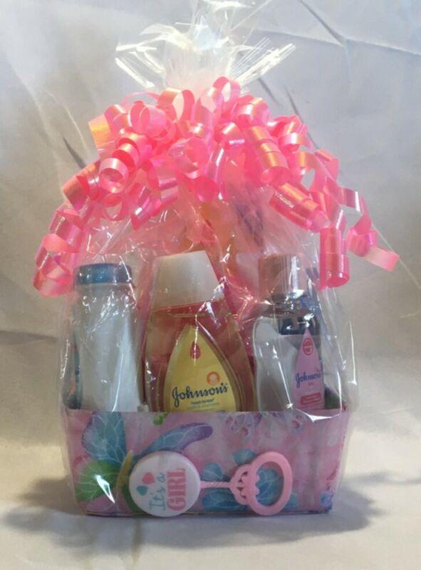 New Born Infant Baby Girl Shower Gift Basket Value Pack,