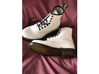 White Dr Martens size 5