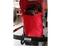Pram/pushchair red with Rain cover