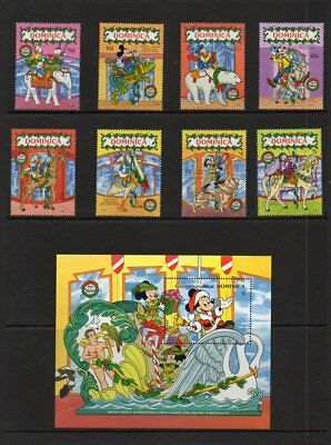 "Dominica ""Christmas 1990"" Scott #'s 1271-80  - Disney Topical - MNH"