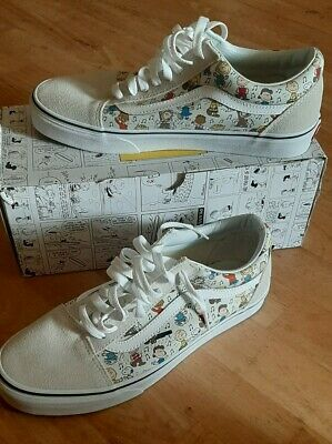 RARE Vans PEANUTS Shoes Snoopy The Gang Charlie Brown Skate Shoes Men's 9