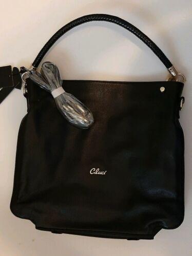 black leather handbag purse tote satchel shoulder