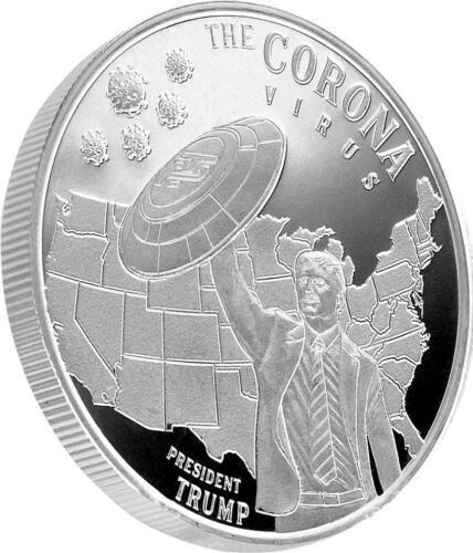Trump & the Corona Commemorative Proof Like 1oz .999 Silver Round (t18s)
