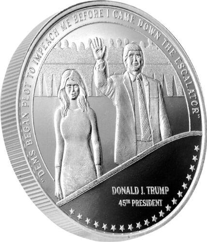 Trump & Melania Escalator 1oz .999 Silver Silver Prooflike Round