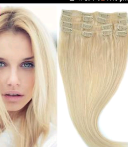 Want to buy ** Blonde clip in human hair extensions Ripley Ipswich City Preview
