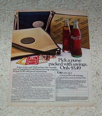 1978 ad page - TAB soda pop & Coca-Cola Coke drink Vintage Print ADVERT