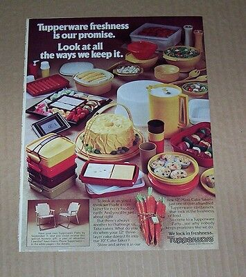 1981 ad page - Tupperware Containers lock in freshness CARROTS vintage ADVERT