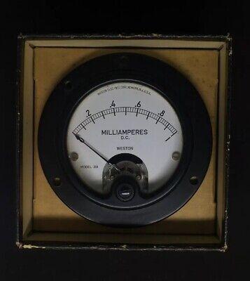 Weston Model 301 1 Milliamperes Panel Mount Meter Bakelite 3 12 Diameter