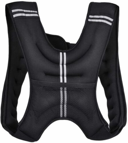 Workout Weight 10-20LB Weighted Vest Exercise Training Fitness Adjustable Strap