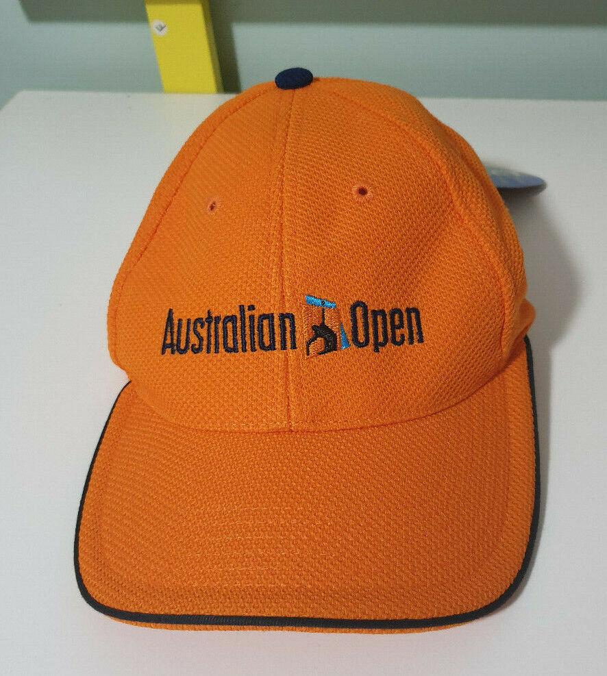Official Australian Open Tennis Tournament Hat/Cap ORANGE NEW WITH TAGS 2003