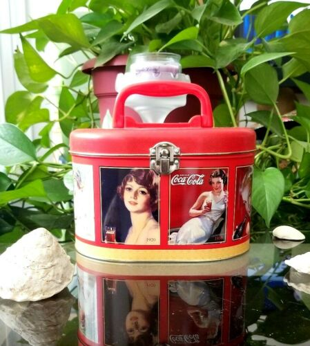 Coca-Cola Tin with Secure Latch Lunch Box Collectible Licensed by Coco Cola New!