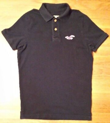 Men's HOLLISTER Polo Shirt, Navy Blue,  Medium,  Abercrombie & Fitch