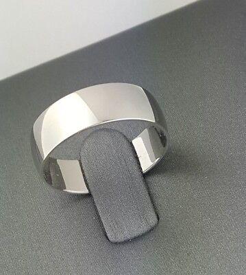10K Solid Real White Gold 7MM Plain Wedding Band Ring Men Women Offer Engraving