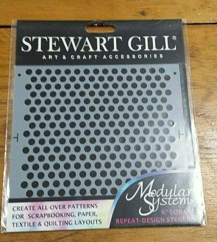 "STEWART GILL SMALL DOTS 6"" MODULAR SYSTEM STENCIL FREE SHIPPING"