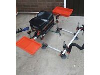 Octoplus Fishing Stool Strong Box with Accessories & Add Ons Trays Spray Bar Etc