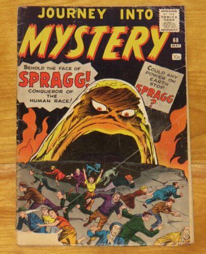 Pre-Hero Marvel 1961 JOURNEY INTO MYSTERY No. 68 SPRAGG, WALKS THE GHOST GD- 1.8