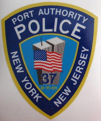 NEW NY NJ Port Authority 9-11 Memorial Police Reflective Sticker w/ Towers