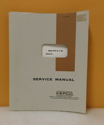 Kepco 146-0045 Bop 36-5 M Bipolar Operational Power Supply Instruction Manual