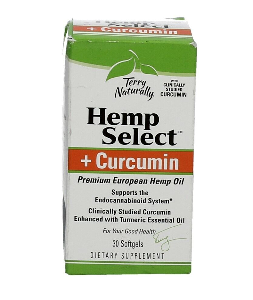 Premium European Hemp Oil + Curcumin (30 Softgels) Exp: 02/2021