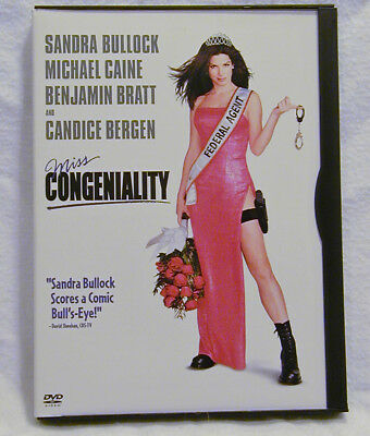 Miss Congeniality  Dvd  2001   Widescreen  Sandra Bullock   Like New Condition