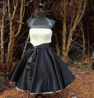 Petticoatkleid Tanz Jugendweihe Konfirmation Abend Cocktail Braut Kleid 34-54