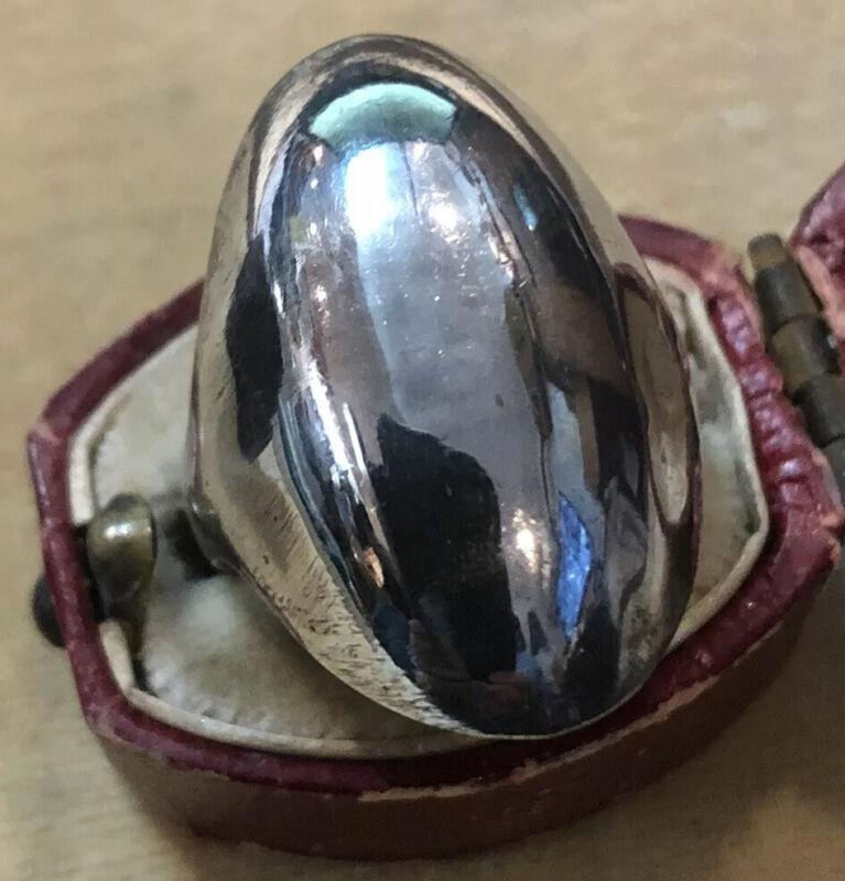 Vintage Silver Modernist Statement Ring