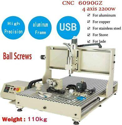 Usb Cnc 6090 4axis 2200w Milling Engraver Machine Vfd Cnc Diy Engravingrouterrc