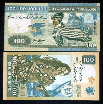 Pitcairn Islands, $100 private issue, 2017, Bounty, Polynesian Nude