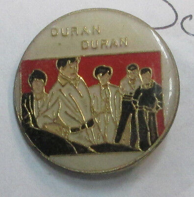 DURAN DURAN VINTAGE 2 METAL LAPEL PIN NEW FROM LATE 80'S HEAVY METAL WOW